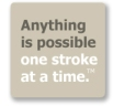 anything is possible one stroke at a time